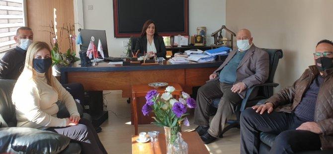 Kıbrıs Türk Toplu Taşımacılar Birliği, BRT Müdürü Özkurt'u ziyaret etti