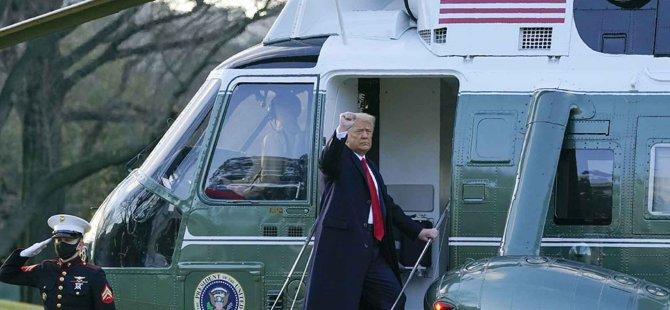 ABD'de tarihi gün. Trump veda etti