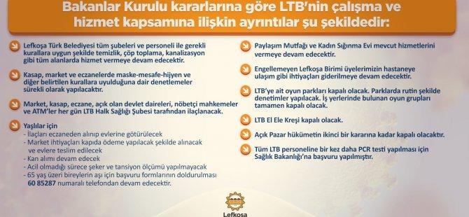 LTB kapanma döneminde de hizmet vermeyi sürdürecek
