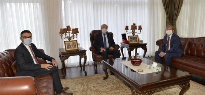 Cumhurbaşkanı Tatar, Görevi Sona Eren Kuzey Kıbrıs Turkcell Genel Müdürü Maden'i Kabul Etti
