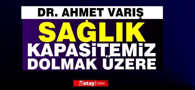 """Dr. Ahmet Varış: """"Sağlık kapasitemiz dolmak üzere…"""""""