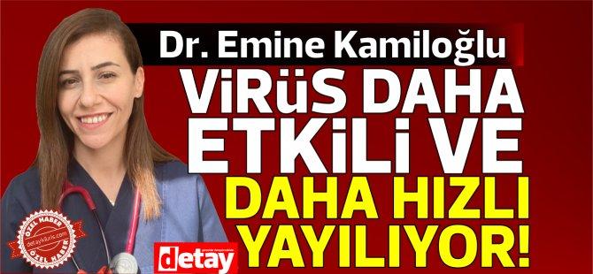 Dr Emine Kamiloğlu:  Pandemi merkezleri de pandemi otelleri de hızla yatak kapasitesi dolacak şekle geldi