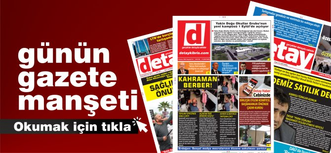 Detay Gazetesi Bugün Ne Manşet Attı? ( 29 Ocak Cuma)