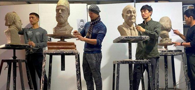 Kaytazzade Mehmet Nazım Hikmet ve  Afif Mapolar, Bronz Büstleri ile Surlariçi Şehir Müzesi'nde