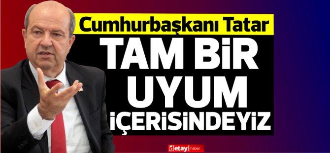 """Tatar: """"Artık federasyon konuşması yoktur, yan yana yaşayan, egemen eşitliğe dayalı iki devletli çözüm modeli vardır"""""""