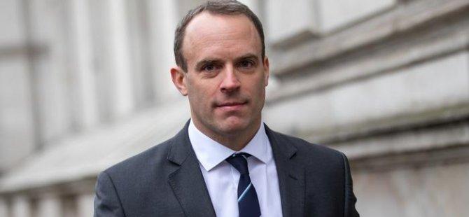 İngiltere Dışişleri Bakanı Raab Yarın Kıbrıs'a Geliyor