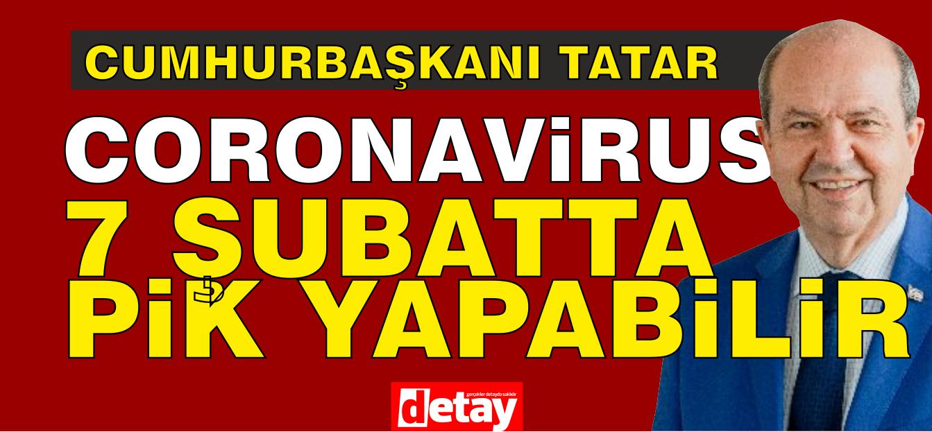 "Tatar: ""Koronavirüs 7 Şubat'ta 'pik' yapabilir"""