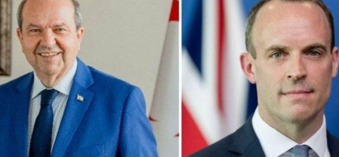 Cumhurbaşkanı Tatar, bugün İngiltere Dışişleri Bakanı Raab'ı kabul edecek