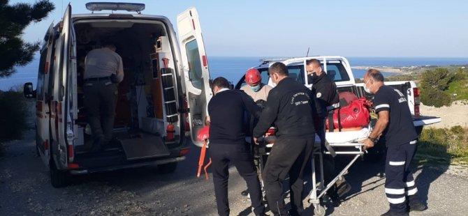 Yaralanan motosikletlinin yardımına Sivil Savunma ekipleri koştu