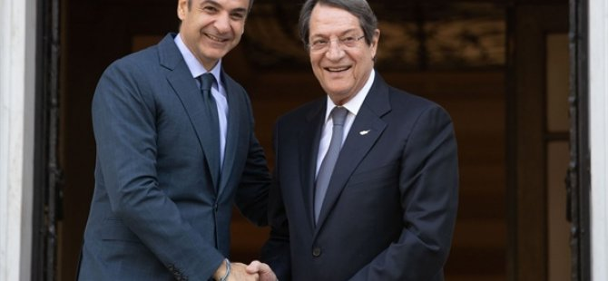 Yunanistan Başbakanı Miçotakis Güney Kıbrıs'ta
