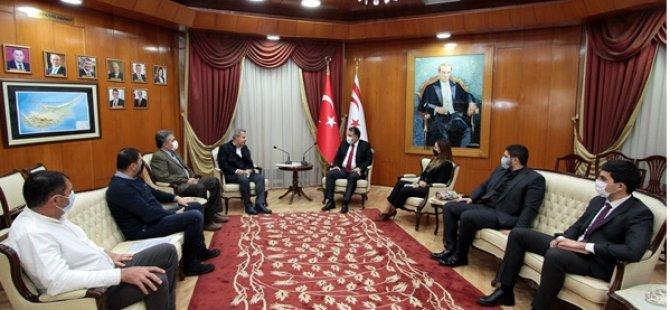 Başbakan Ersan Saner Sanayi Odası Heyetini Kabul Etti