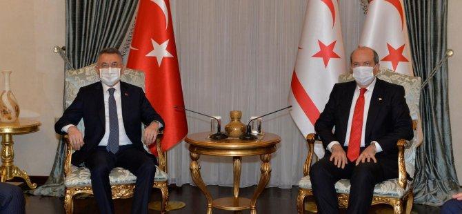 Cumhurbaşkanı Tatar, TC Cumhurbaşkanı Yardımcısı Oktay İle Bir Araya Geldi