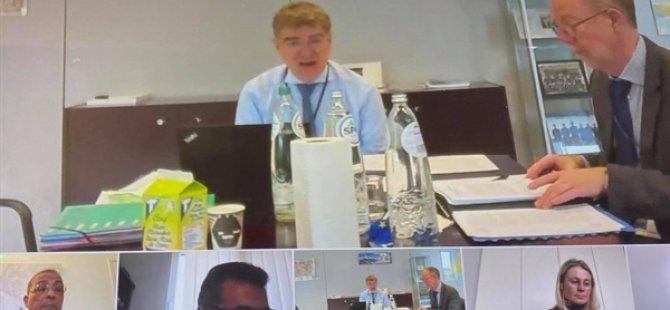 Erhürman, Avrupa Komisyonu Yapısal Reform Destek Birimi Genel Müdürü Nava'yla Telekonferans Yöntemiyle Görüştü