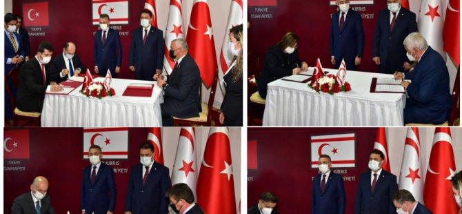 Türkiye'yle dört anlaşma imzalandı