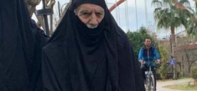 Aydemir Akbaş çarşaf giydi