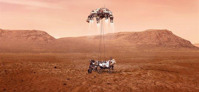 Nasa'nın Yaşam İzi Arayacak Uzay Aracı Mars'a İniyor