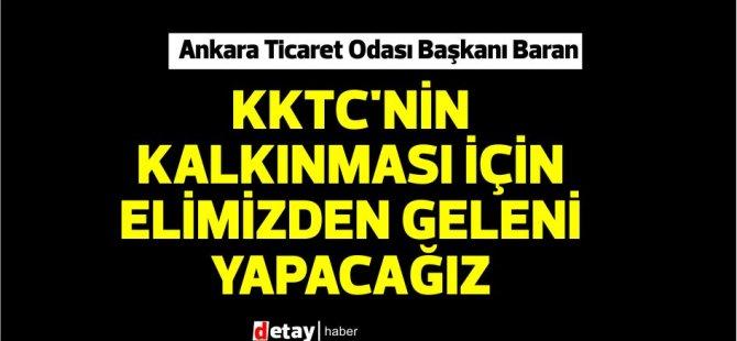 KKTC heyeti,Ankara Ticaret Odası Başkanı Baran'ı ziyaret etti