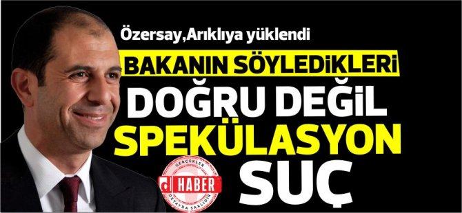 Özersay:Erhan Arıklı bulunduğu makamın ağırlığının farkında değil