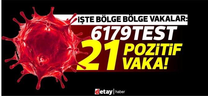 6179 test 21 pozitif vaka