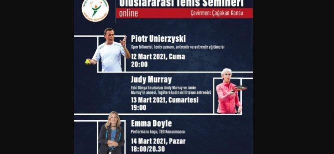 KKTF Uluslararası Tenis Semineri yapılıyor