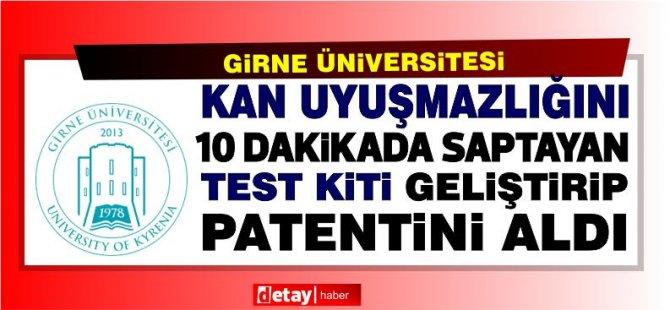 Girne Üniversitesi Gebelikte Kan Uyuşmazlığını 10 Dakikada Saptayan Test Kiti Geliştirerek Patentini Aldı.