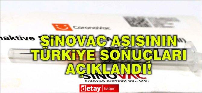 Sinovac aşısının Türkiye sonuçları açıklandı