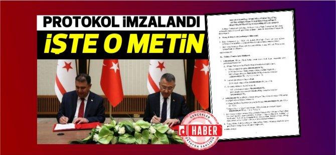2021 Yılı Türkiye –KKTC İktisadi ve Mali İşbirliği Protokolü imzalandı...İşte Protokolün detayları