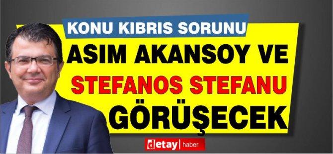 Akansoy ve Stefanu zoom üzerinden Kıbrıs sorununu konuşacaklar