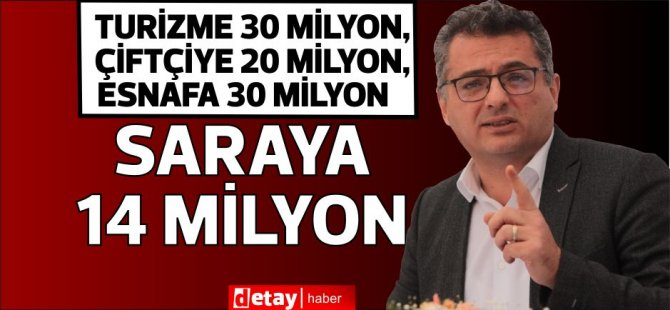 """Erhürman:""""Bu dönemde acil ihtiyacımız olan"""" Sarayı Projesi""""ne 14 milyon TL ayrılmış!"""