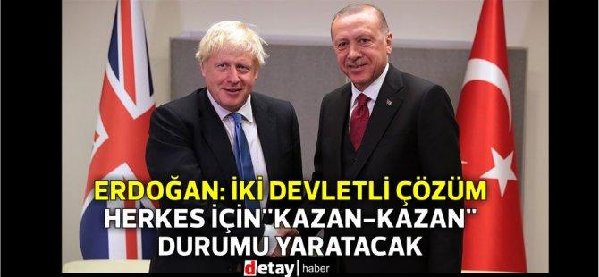 """Erdoğan: İki Devletli Çözüm Herkes İçin """"Kazan-Kazan"""" Durumu Yaratacak"""