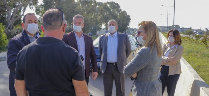 Salamis Yolu'ndaki  Aydınlatmaların Arızalarının Giderilmesi İçin Çalışma Başlatıldı