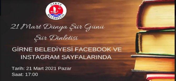 Girne Belediyesi'nden Dijital Ortamda Şiir Dinletisi Etkinliği