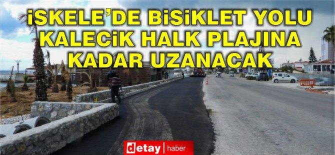 İskele'de Bisiklet yolu Kalecik Halk Plajına kadar ulaşacak