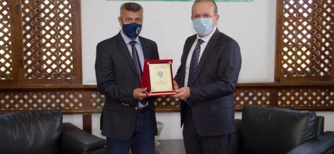 Mağusa Spor Akademisi, Fikri Ataoğlu'nu Ziyaret Etti