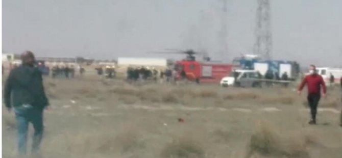 Son Dakika:Konya'da askeri uçak düştü!
