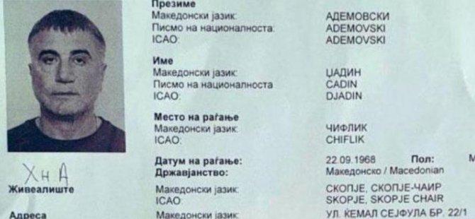 Sedat Peker'in Üsküp'te Djadin Ademovski adıyla düzenlenen sahte ikametgah belgesiyle kaldığı ortaya çıktı. Kuzey Makedonya'da polise yönelik sahte evrak operasyonunda 9 kişi tutuklandı