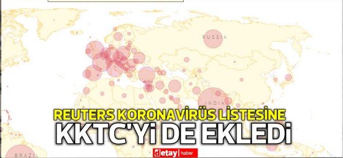 Reuters Koronavirüs listesine KKTC'yi de ekledi