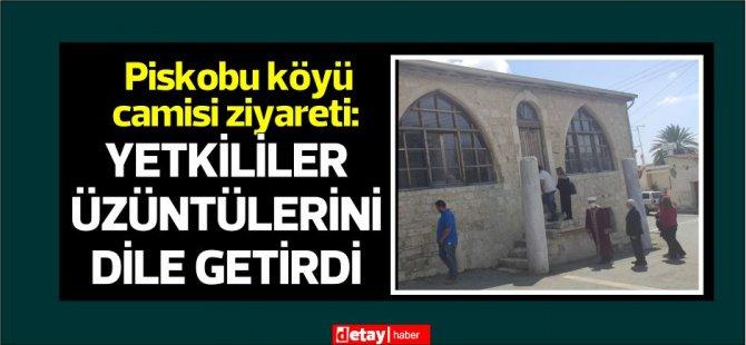 Din İşleri Başkanı Atalay duvar ve kapılarına ırkçı yazılar yazılan camiyi ziyaret etti