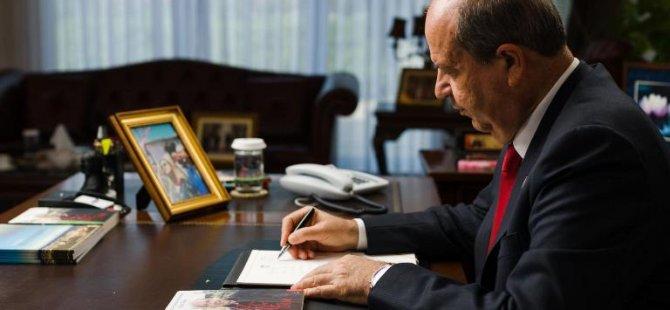 Cumhurbaşkanı Ersin Tatar  Yıldırım Akbulut'un vefatı nedeniyle taziye mesajı yayımladı