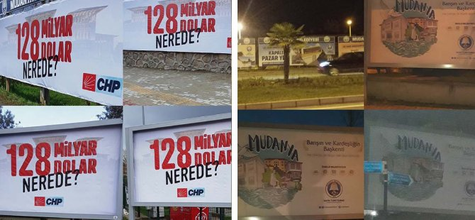 """CHP'nin """"128 milyar dolar nerede"""" afişlerine 'Cumhurbaşkanına hakaret' soruşturması başlatıldı"""