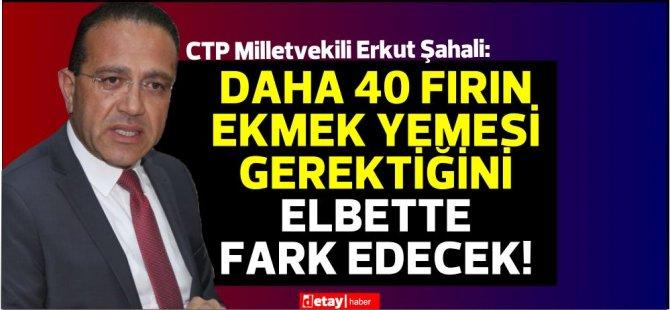 Şahali:Erhürman'a ''bilgisiz'' ifadesi kullanan Cumhurbaşkanlığı daha 40 fırın ekmek yemeli
