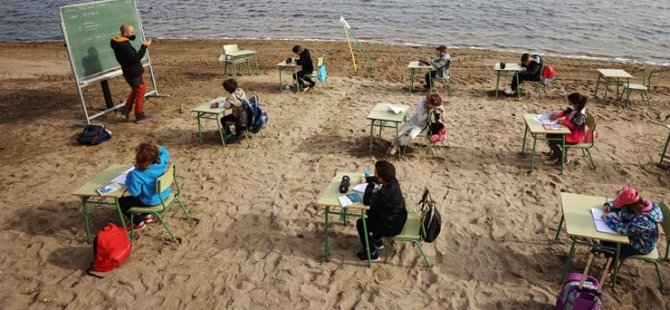 Rüya gerçek oldu: Plajda ders