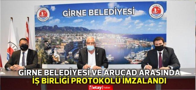 Girne Belediyesi ile ARUCAD arasında protokol imzalandı