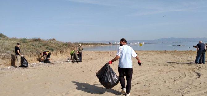 Bedis ve Silver Beach arasındaki 1 Km'lik alan temizlendi...