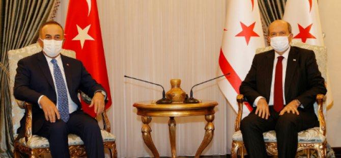 Cumhurbaşkanı Tatar, Türkiye Cumhuriyeti Dışişleri Bakanı Çavuşoğlu'nu kabul etti