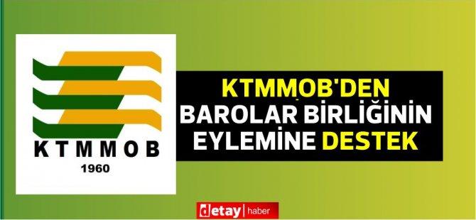 Υποστήριξη από την Τουρκική Ένωση Επιμελητηρίων Μηχανικών και Αρχιτεκτόνων στη δράση της Ένωσης Δικηγορικών Συλλόγων