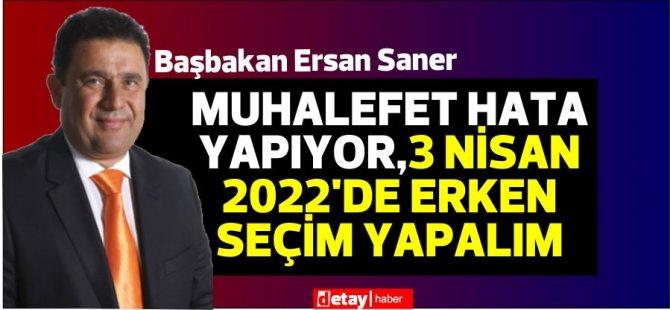 Başbakan Saner:Erteleme tamamen salgın ve Meclis'teki pozitif vakalar nedeniyle