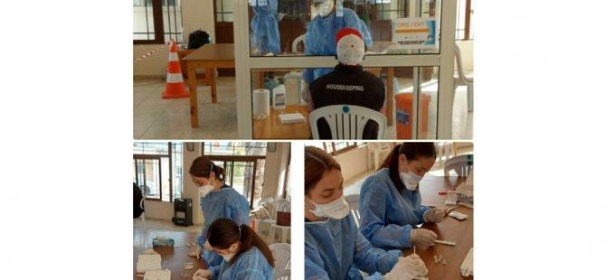 İskele'de hızlı test (antijen) kitine geçildi