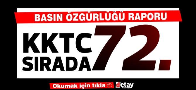Kuzey Kıbrıs dünyada basın özgürlüğünde 76'ıncı sırada