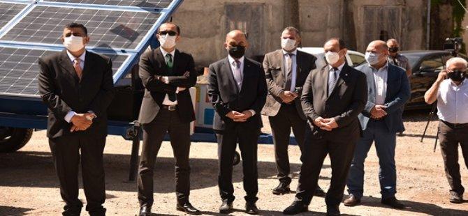 Türkiye'den Hibe Edilen Yangın Gözetleme Kameraları İle Mobil Güneş Panelleri Teslim Edildi